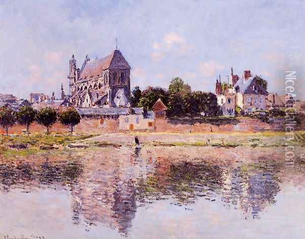 View Of The Church At Vernon Oil Painting - Claude Oscar Monet