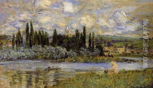View Of Vetheuil Oil Painting - Claude Oscar Monet