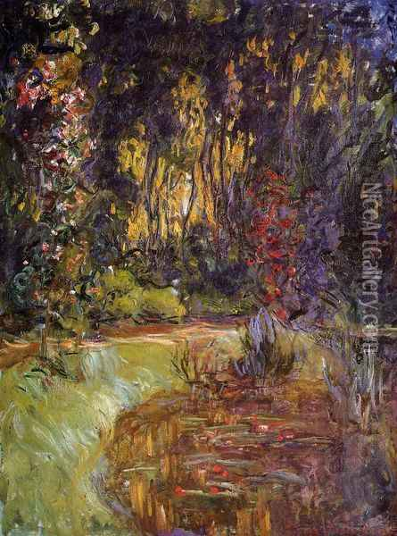 Water-Lily Pond at Giverny Oil Painting - Claude Oscar Monet