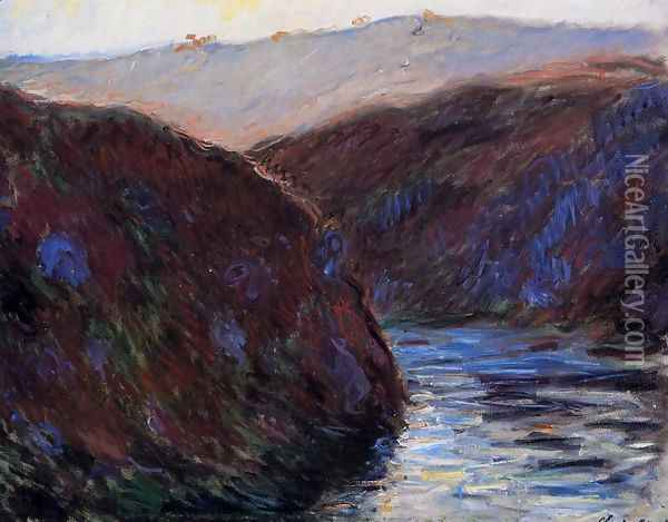 Valley Of The Creuse Afternoon Sunlight Oil Painting - Claude Oscar Monet