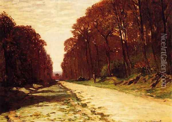 Road In A Forest Oil Painting - Claude Oscar Monet