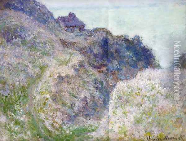The Coastguard Cabin At Varengeville Oil Painting - Claude Oscar Monet