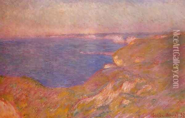 On The Cliff Near Dieppe Oil Painting - Claude Oscar Monet
