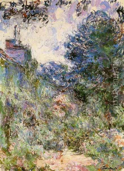 The House Seen From The Rose Garden3 Oil Painting - Claude Oscar Monet