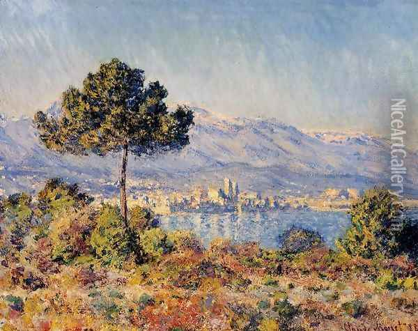 View Of Antibes From The Notre Dame Plateau Oil Painting - Claude Oscar Monet