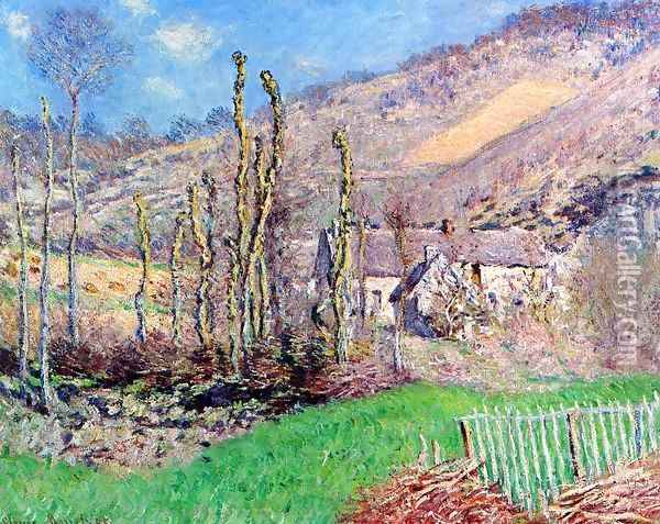 Winter Landscape At The Val De Falaise Oil Painting - Claude Oscar Monet