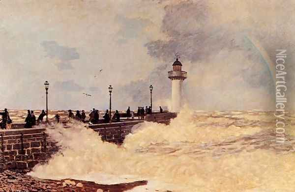 The Jetty At Le Havre Oil Painting - Claude Oscar Monet