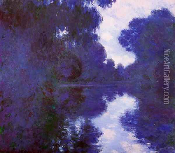Morning On The Seine Clear Weather2 Oil Painting - Claude Oscar Monet