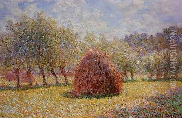 Haystacks At Giverny2 Oil Painting - Claude Oscar Monet