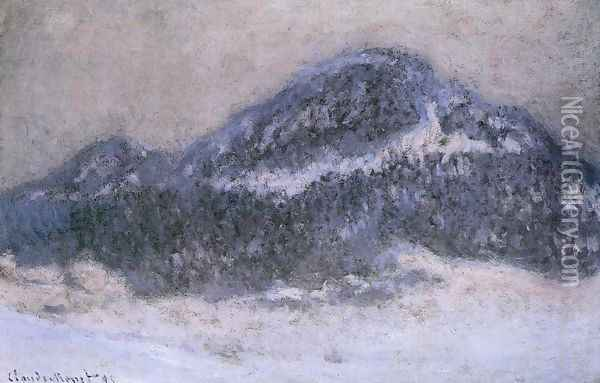 Mount Kolsaas In Misty Weather Oil Painting - Claude Oscar Monet