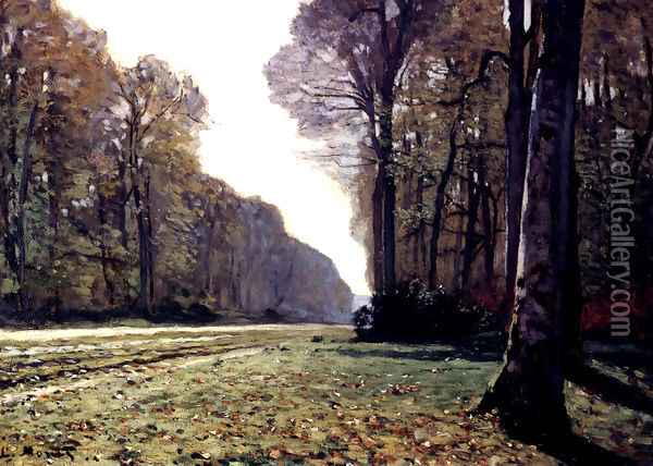 The Road To Chailly Oil Painting - Claude Oscar Monet