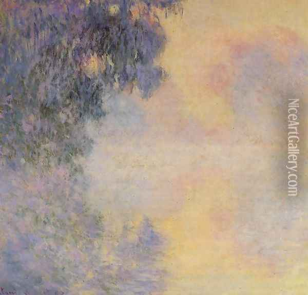 Arm Of The Seine Near Giverny In The Fog Oil Painting - Claude Oscar Monet