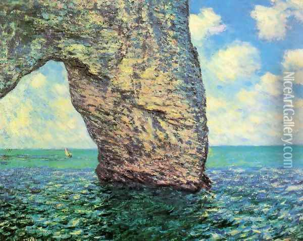 The Manneport At High Tide Oil Painting - Claude Oscar Monet