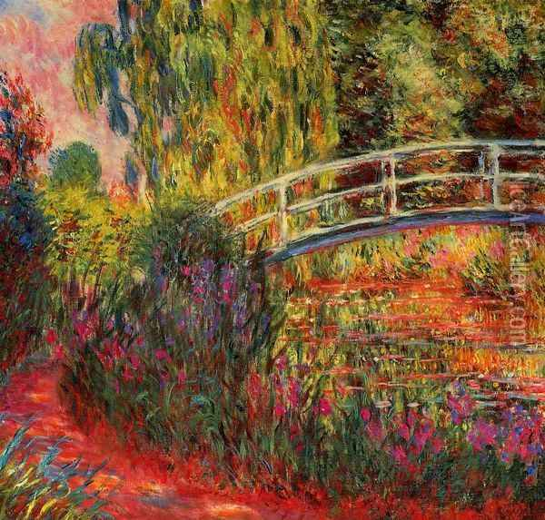 Water-Lily Pond, Water Irises Oil Painting - Claude Oscar Monet