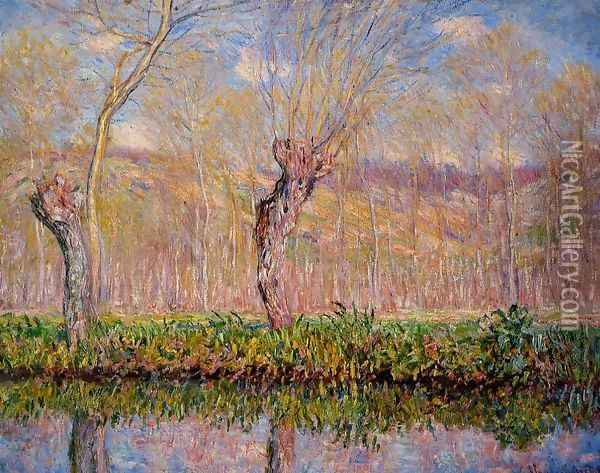 The Banks Of The River Epte In Springtime Oil Painting - Claude Oscar Monet