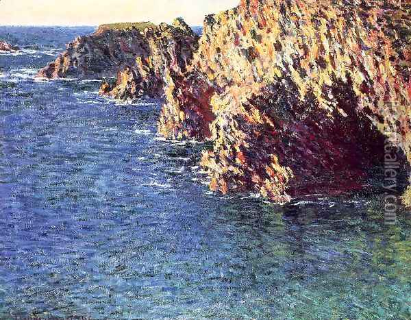 The Grotto Of Port Domois Oil Painting - Claude Oscar Monet