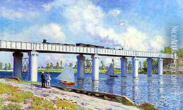 The Railroad Bridge At Argenteuil2 Oil Painting - Claude Oscar Monet