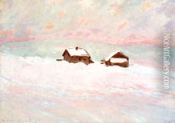 Houses in the Snow, Norway Oil Painting - Claude Oscar Monet