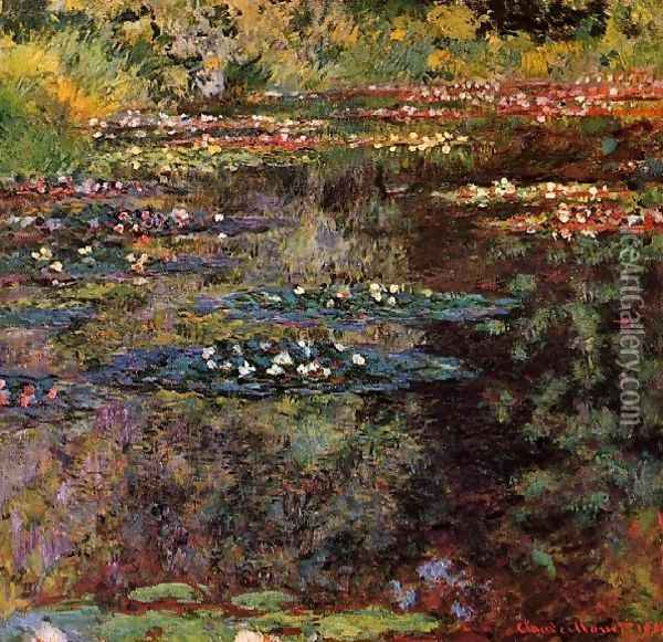 Water Lilies35 Oil Painting - Claude Oscar Monet