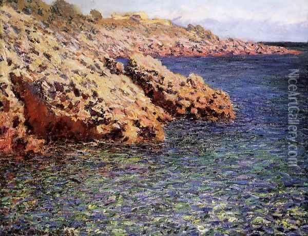 Rocks On The Mediterranean Coast Aka Cam D Antibes Oil Painting - Claude Oscar Monet