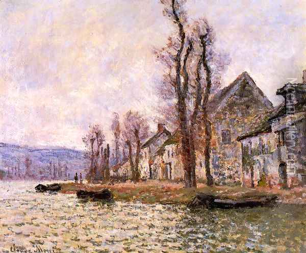The Bend Of The Seine At Lavacourt Winter Oil Painting - Claude Oscar Monet