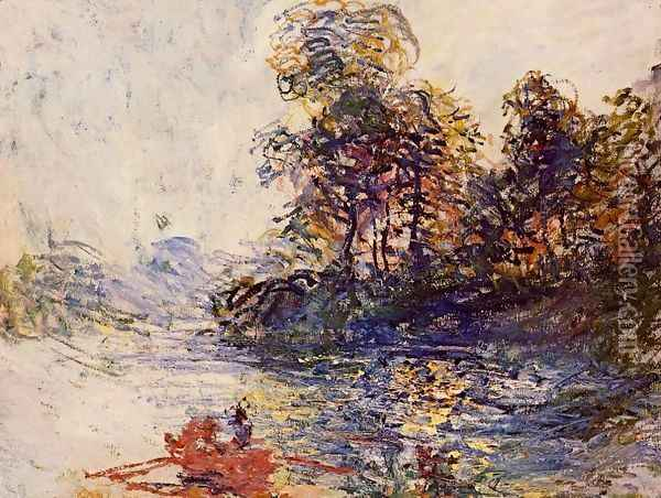 The River Oil Painting - Claude Oscar Monet