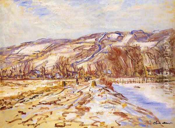 Winter At Giverny Oil Painting - Claude Oscar Monet