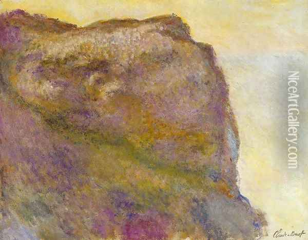 On The Cliff At Petit Ailly Oil Painting - Claude Oscar Monet