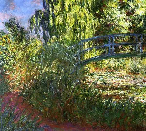 Waterlily Pond And Path By The Water Oil Painting - Claude Oscar Monet