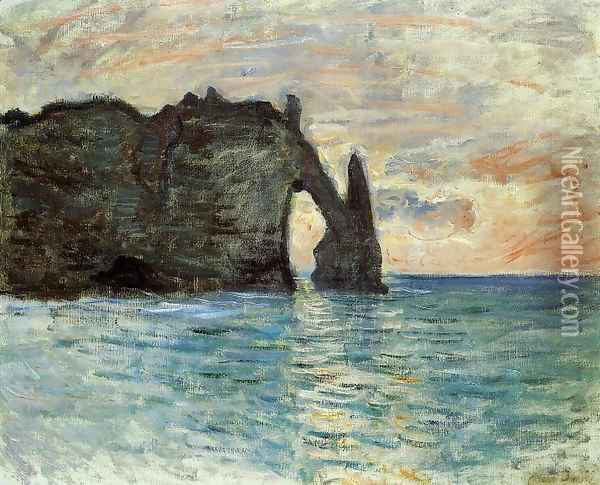 The Cliff At Etretat Oil Painting - Claude Oscar Monet