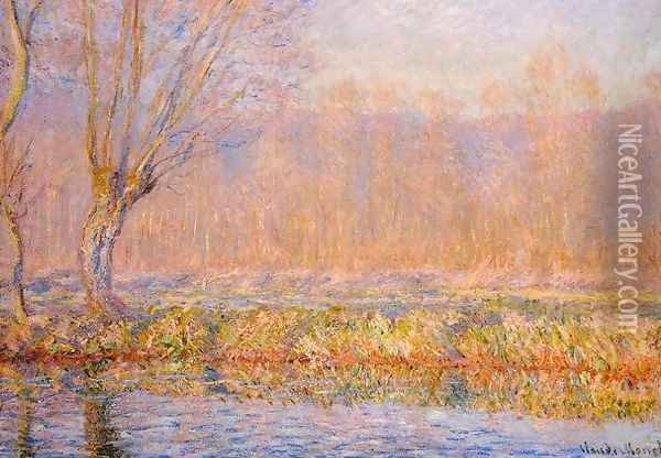 The Willow Aka Spring On The Epte Oil Painting - Claude Oscar Monet