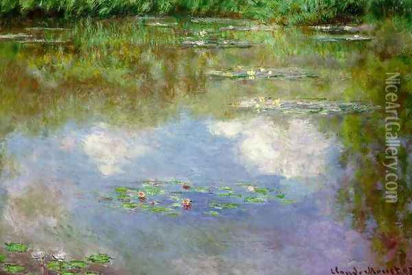 Water Lilies (The Clouds) (1903) Oil Painting - Claude Oscar Monet