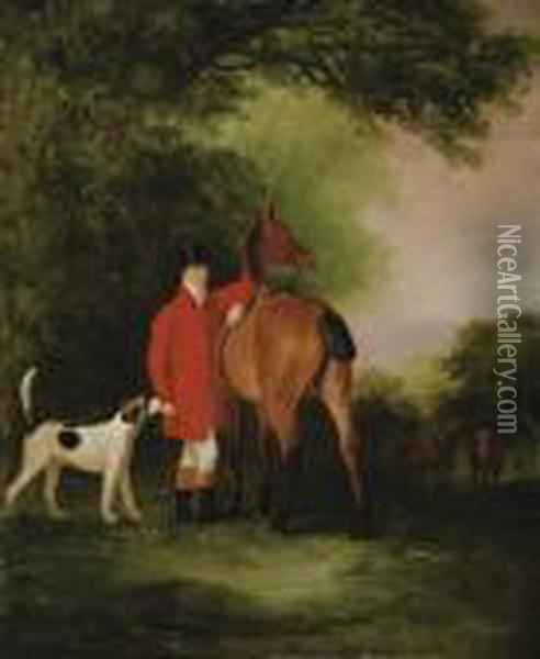 Portrait Of Lord Lismore In A Hunting Coat Oil Painting - John Snr Ferneley