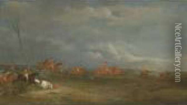 Property From A Private Collection, Palm Beach              Full Cry Oil Painting - John Snr Ferneley