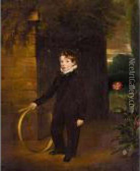Portrait Of A Gentleman, Said To Be John Manners Oil Painting - John Snr Ferneley