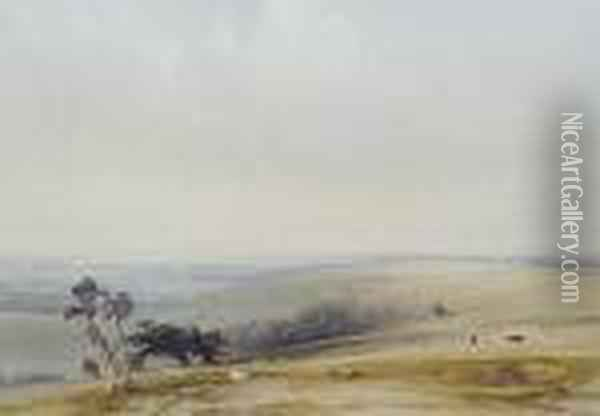 Bow Hill, Sussex Oil Painting - Anthony Vandyke Copley Fielding