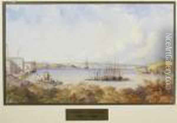 View Of Portsmouth Harbour Oil Painting - Anthony Vandyke Copley Fielding