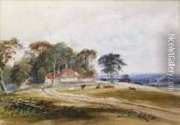 Near Cuckfield, Sussex Oil Painting - Anthony Vandyke Copley Fielding