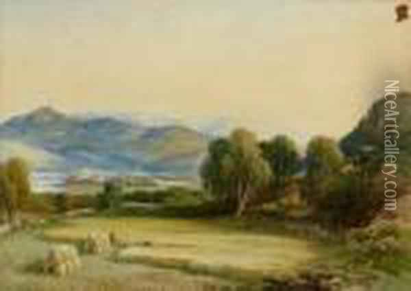 Panoramic Landscape Oil Painting - Anthony Vandyke Copley Fielding