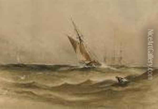 The Approaching Squall Oil Painting - Anthony Vandyke Copley Fielding
