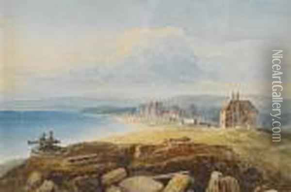 Eastbourne Oil Painting - Anthony Vandyke Copley Fielding