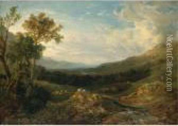 The Valley Of The Clyde Oil Painting - Anthony Vandyke Copley Fielding