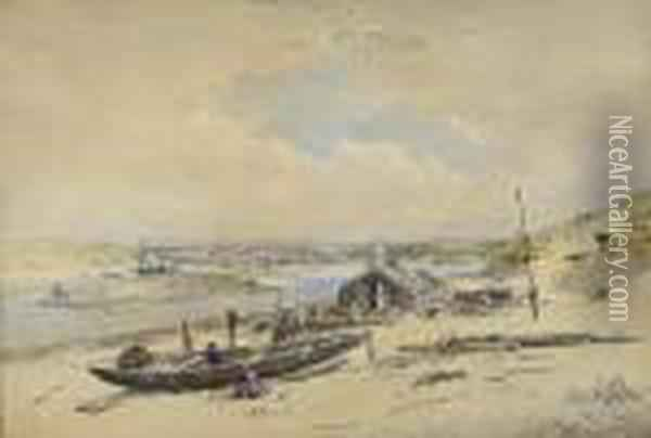 Hayle, Cornwall Oil Painting - Anthony Vandyke Copley Fielding