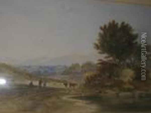 Untitled Oil Painting - Anthony Vandyke Copley Fielding