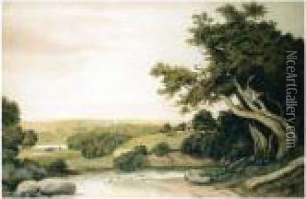 Near Haselmere, Surrey Oil Painting - Anthony Vandyke Copley Fielding