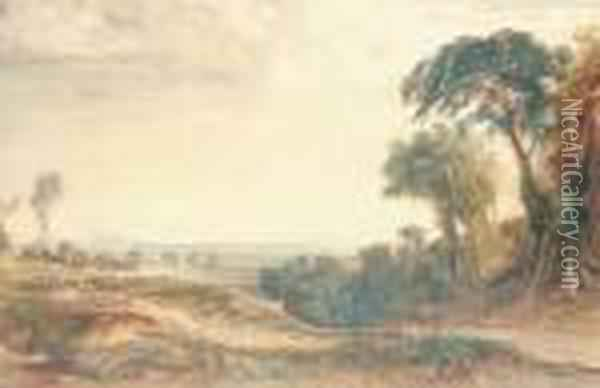 The Vale Of Neath Oil Painting - Anthony Vandyke Copley Fielding