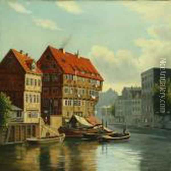 Scenery From A Germantown Oil Painting - August Fischer