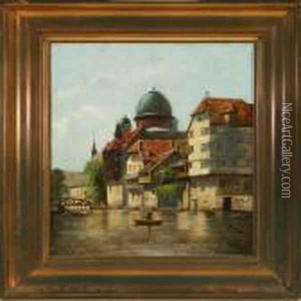 Scenery From Nurnberg, Germany Oil Painting - August Fischer