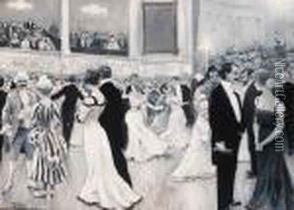Princess Marie Of Denmark's Charity Ball Oil Painting - Paul-Gustave Fischer