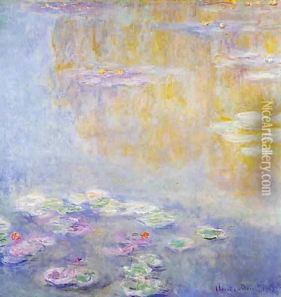 Water Lilies39 Oil Painting - Claude Oscar Monet